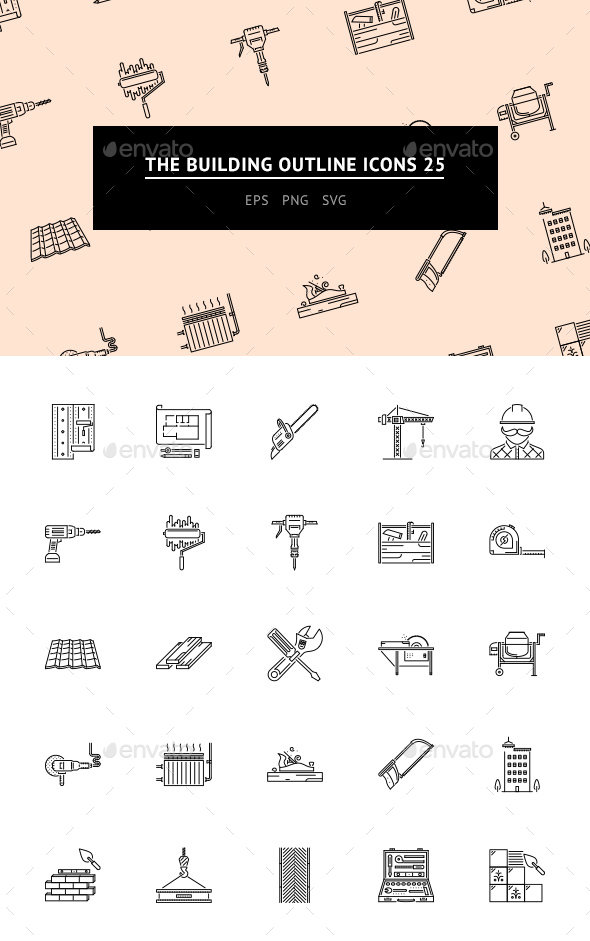The Building Outline Icons 25 - Web Icons