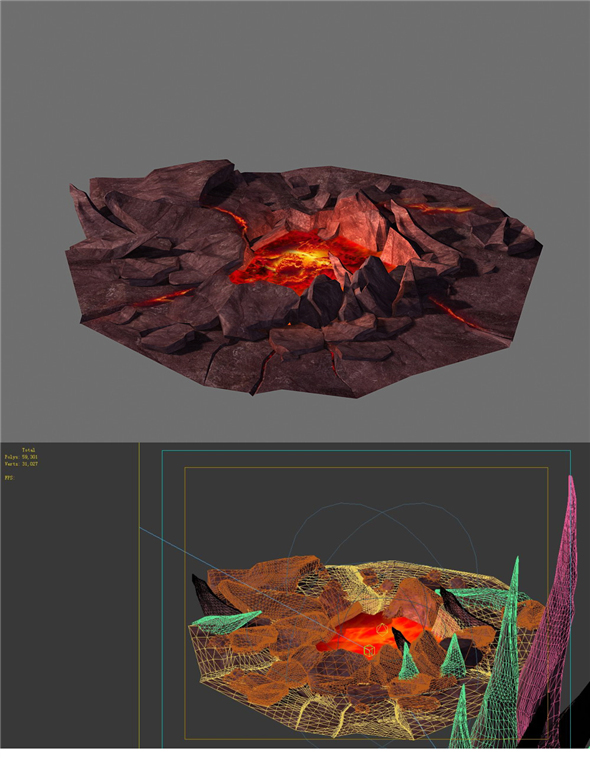 Game Model - Spray the lava hole - 3DOcean Item for Sale