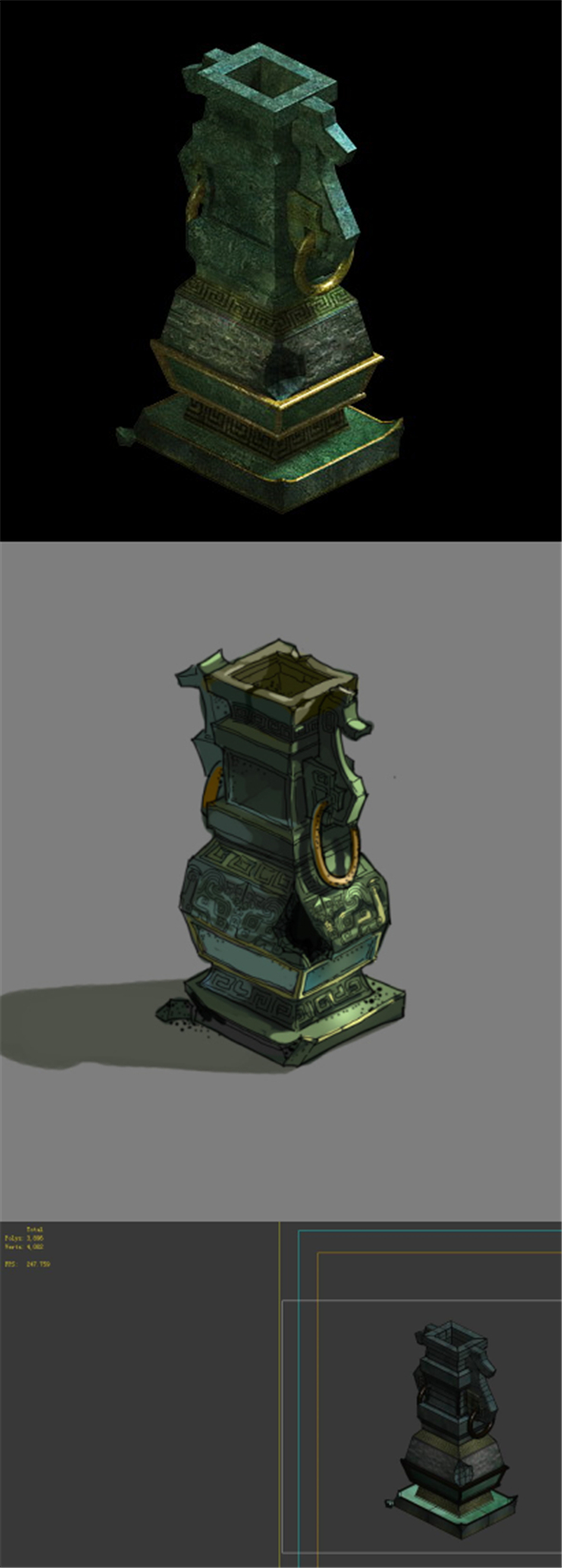 Game Model - Broken Bronze Device 3 - 3DOcean Item for Sale