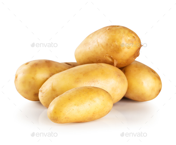 Pile of new potatoes - Stock Photo - Images