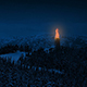 Fire Beacon in the Mountains at Night - VideoHive Item for Sale