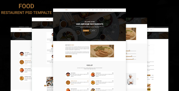 Food – Restaurant PSD Template
