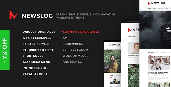 Newslog – Clean News & Magazine WordPress Theme