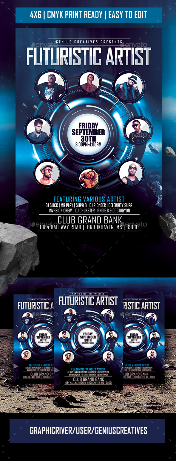 Artist/Dj/Band Flyer Template - Clubs & Parties Events