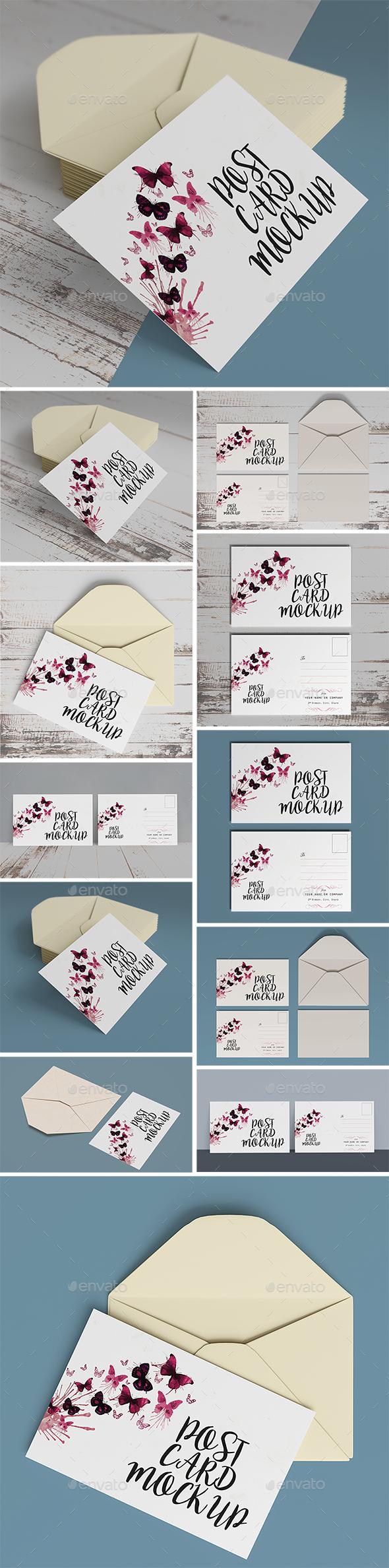 Postcard Mockups - Miscellaneous Print