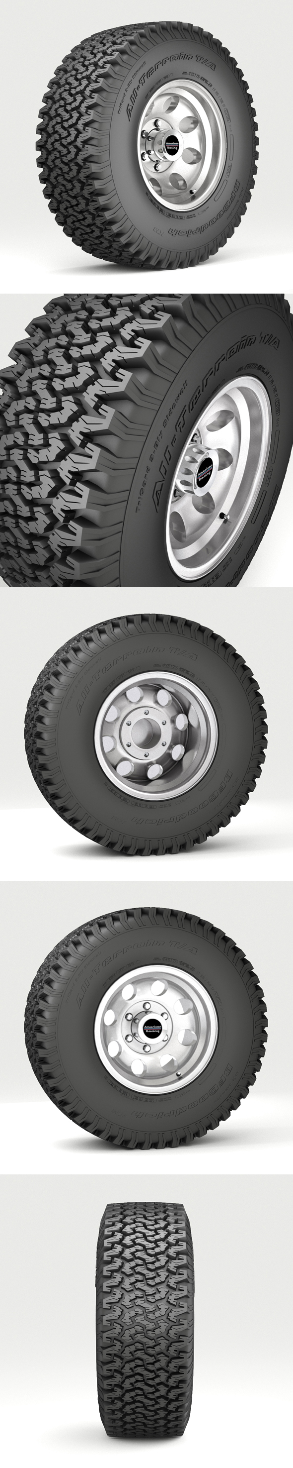 Off Road wheel and tire - 3DOcean Item for Sale