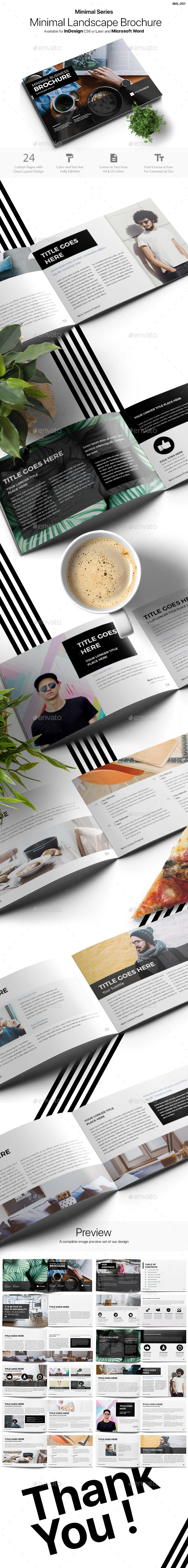 Minimal Landscape Brochure - Corporate Brochures