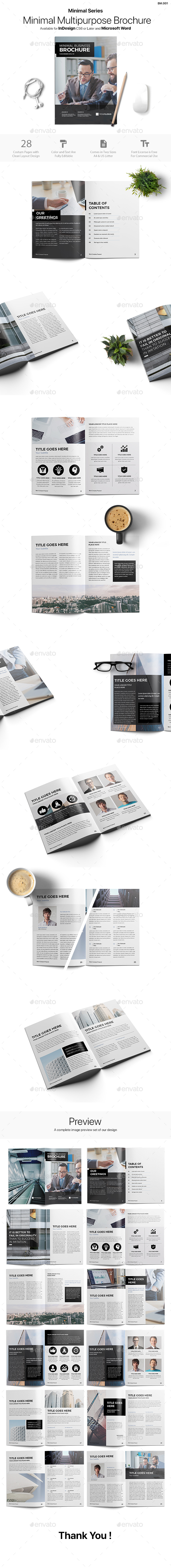 Minimal Brochure - Informational Brochures