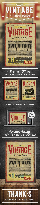 Vintage Flyer/Poster Vol.2 - Concerts Events