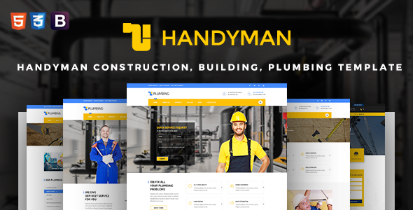 Handyman Construction, Building, Plumbing Joomla Template