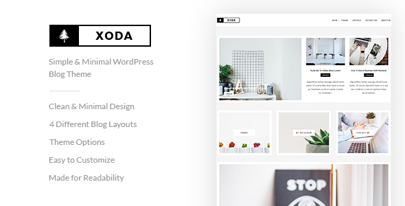 XoDa – Simple & Minimal WordPress Blog Theme