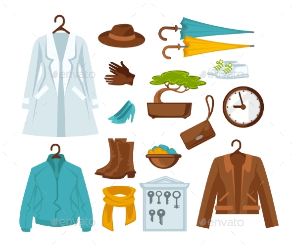 Set of Stylish Female Clothes - Man-made Objects Objects