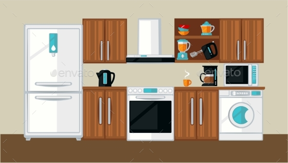 Kitchen Interior Template - Buildings Objects