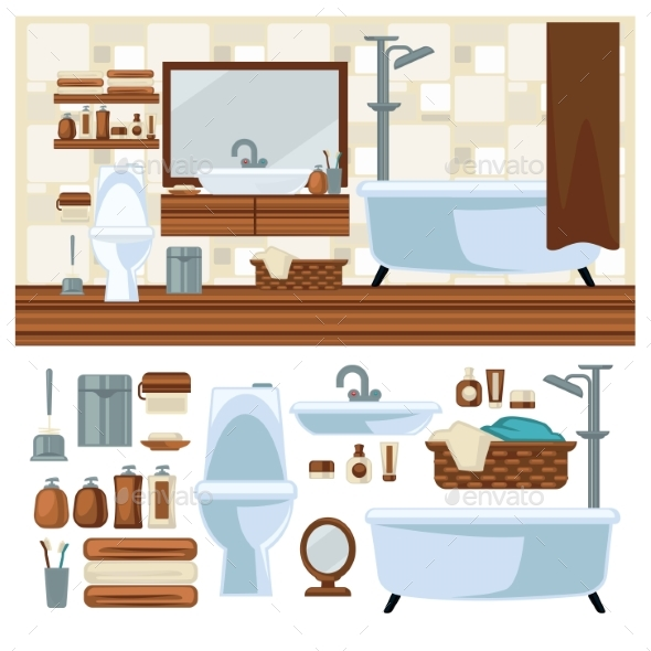 Bathroom Decoration Concept - Buildings Objects