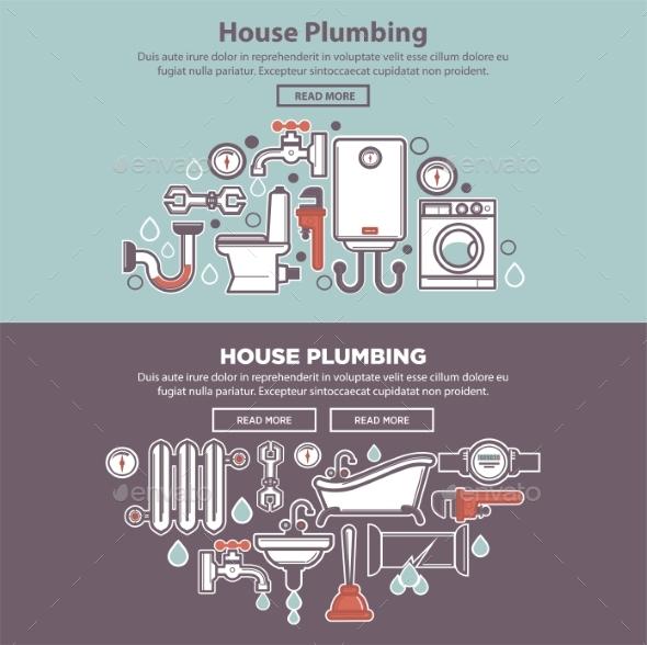 House Plumbing Homepage Mockup - Industries Business