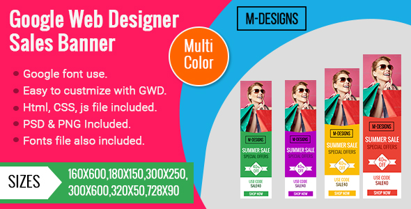 9 Color Themes | Online Shopping | Animated Google Banner is a Beautiful Set of Banner Templates. - CodeCanyon Item for Sale