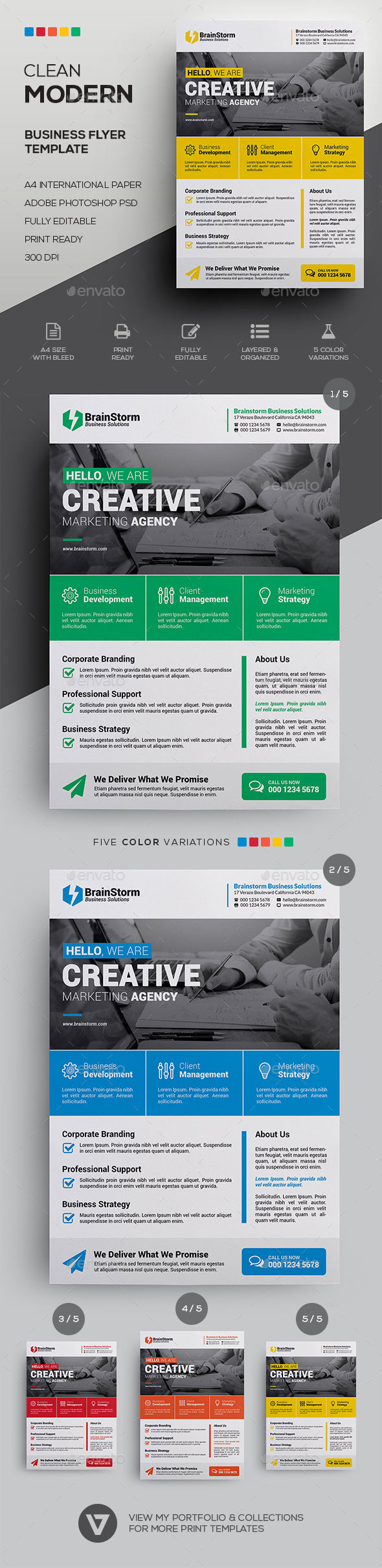 10+ Corporate Business Flyer Designs & Templates – PSD, AI