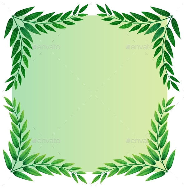 A Leafy Template - Flowers & Plants Nature