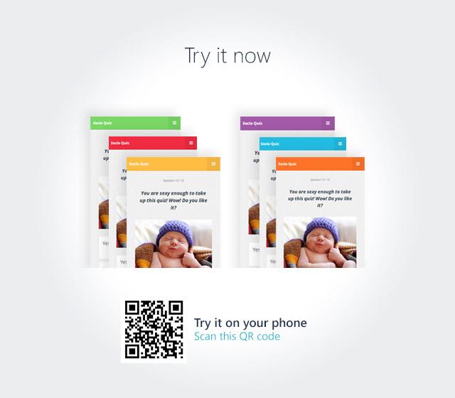 SocioQuiz - Viral Quiz website with Facebook login