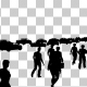Walking People and Vehicle Traffic Silhouettes - VideoHive Item for Sale