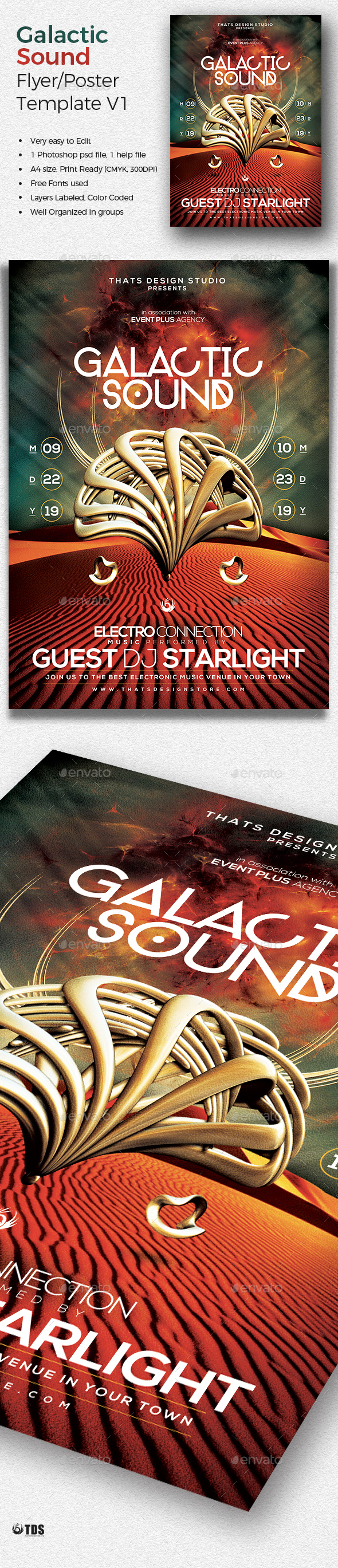 Galactic Sound Flyer Template V1 - Clubs & Parties Events