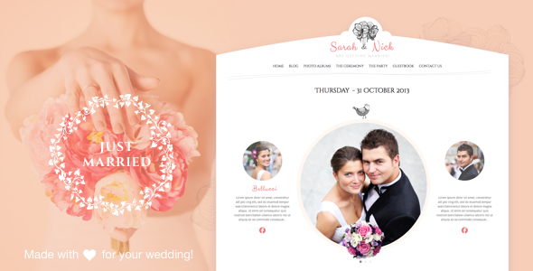 The Wedding Day - Wedding & Wedding Planner - Wedding WordPress