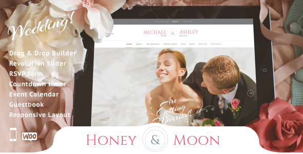 Honeymoon & Wedding - Wedding and Wedding Planner - Wedding WordPress