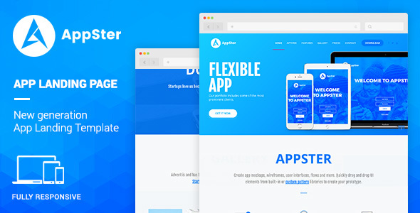 Appster – Mobile App Landing WordPress Theme
