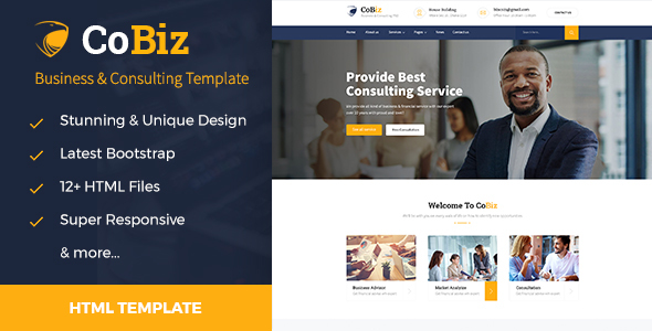 Cobiz – Training, Coaching, Consulting & Business HTML Template