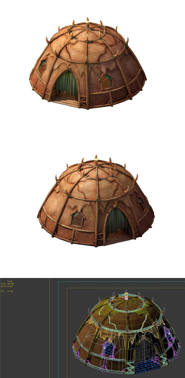 Desert Gobi - Octagonal Tent - 3DOcean Item for Sale