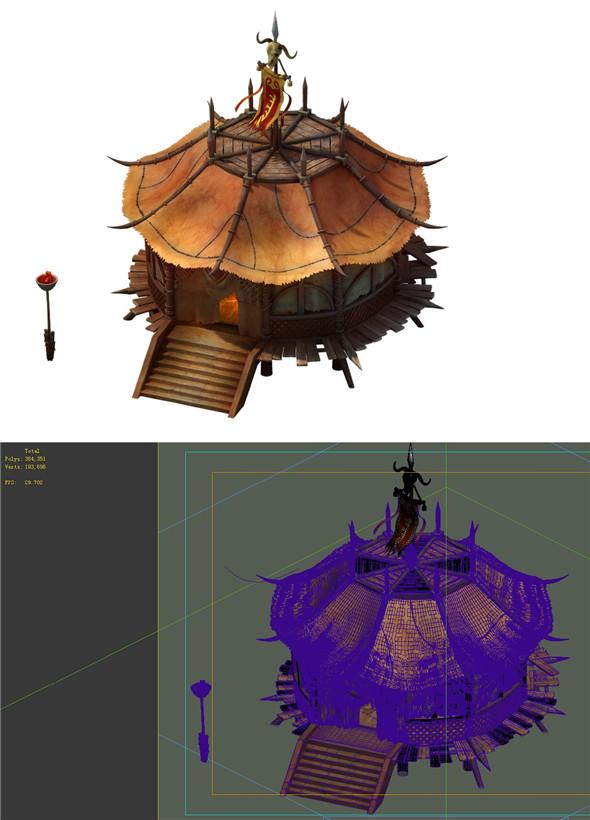 Desert Gobi - octagonal tent 02 - 3DOcean Item for Sale