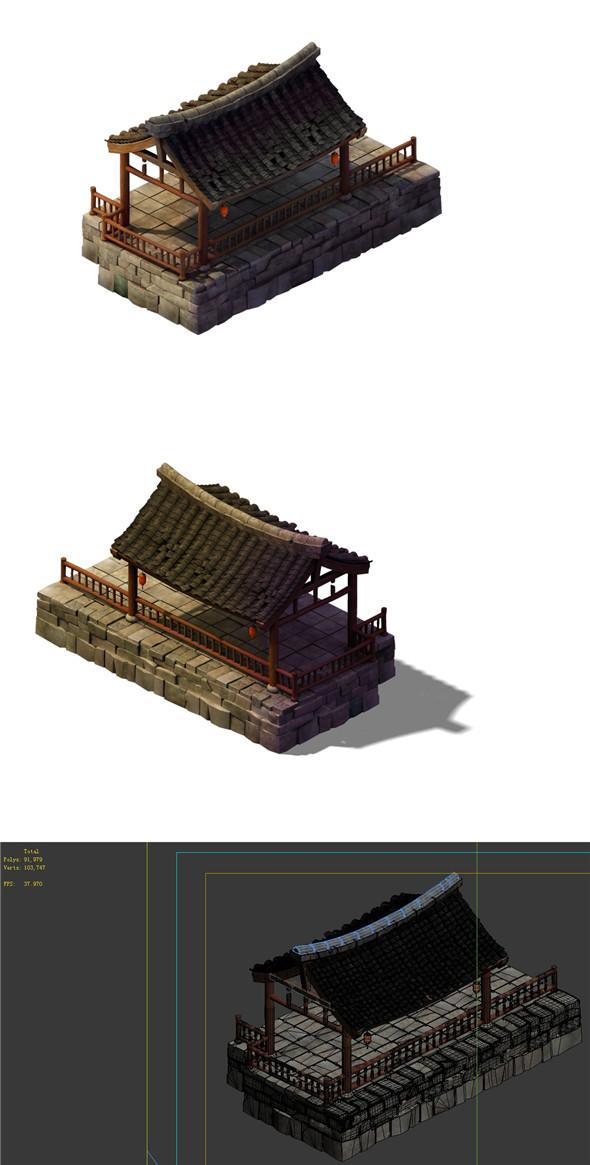 Desert Gobi - Guesthouse Gazebo - 3DOcean Item for Sale