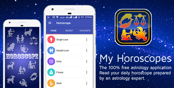 Horoscope with Material Design - CodeCanyon Item for Sale
