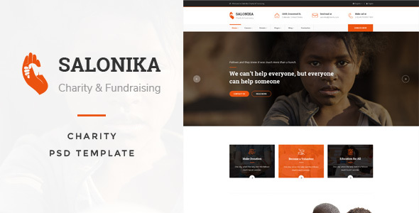 Salonika - Charity PSD Template - Charity Nonprofit