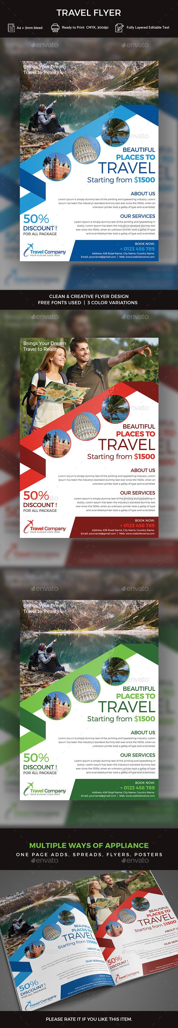 Travel Flyer - Flyers Print Templates