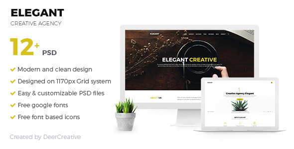 ELEGANT | Creative Agency PSD Template - Creative PSD Templates