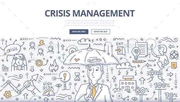 Crisis Management Doodle Concept - Concepts Business