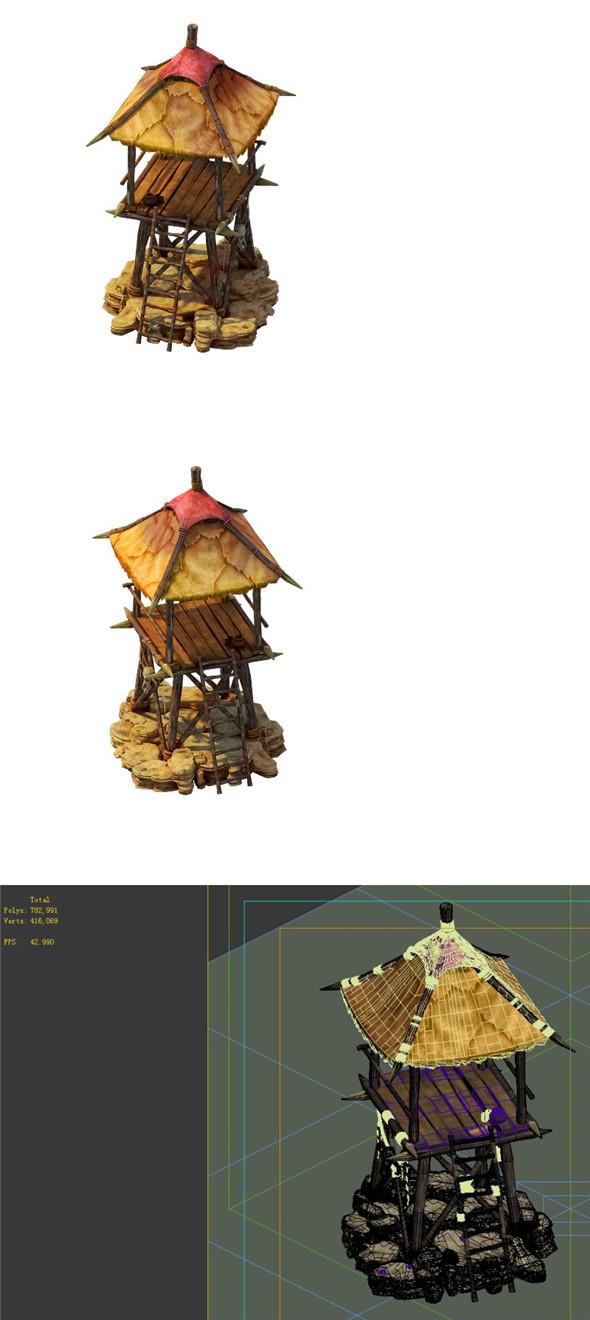 Desert Gobi - Outpost 07 - 3DOcean Item for Sale