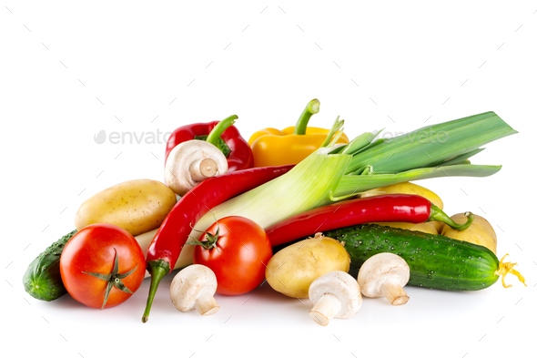 Fresh tasty raw vegetables - Stock Photo - Images