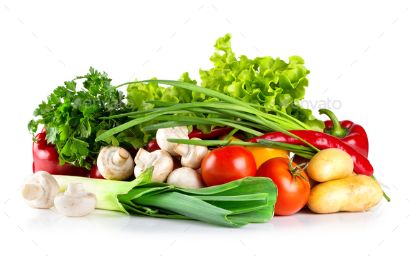 Fresh healthy raw vegetables - Stock Photo - Images