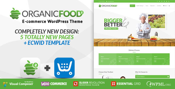 Organic Food – Farm & Food Business Eco WordPress Theme