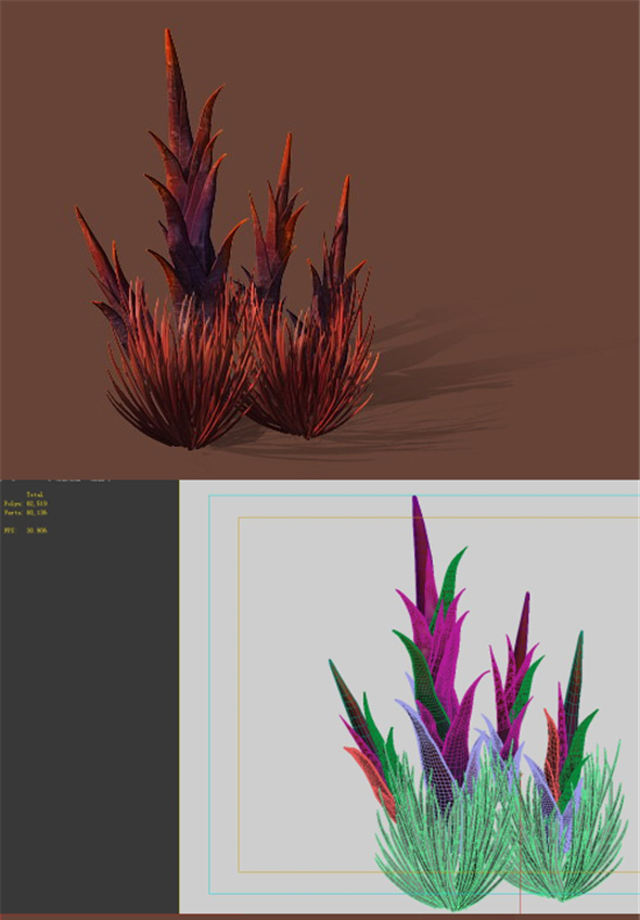 Game Models - Plants in the Desert - 3DOcean Item for Sale