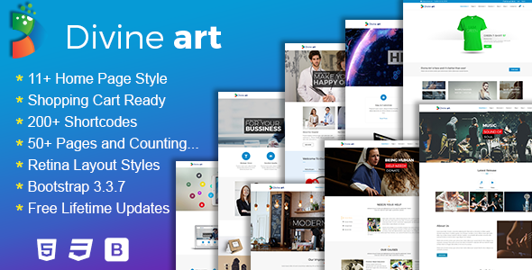 Divine - Responsive Multi-Purpose HTML5 Template
