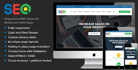 The SEO – SEO and Digital Marketing Agency Template HTML5
