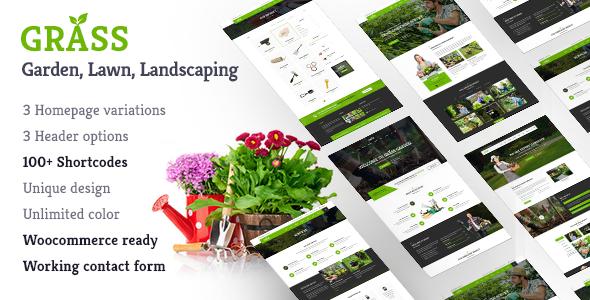 Garden & Landscape WordPress Theme | Grass Garden & Landscape