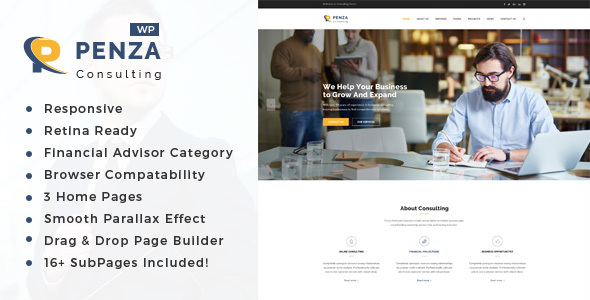Penza - Consulting & Business WordPress Theme
