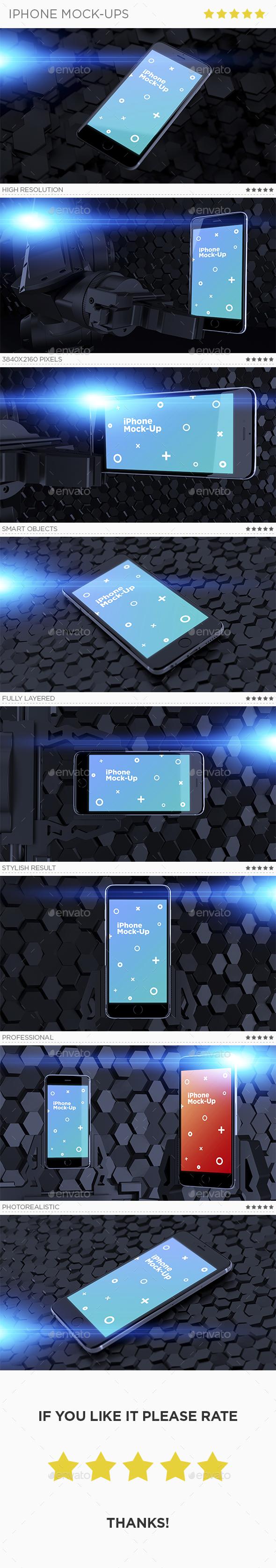Phone Mock-Ups - Mobile Displays