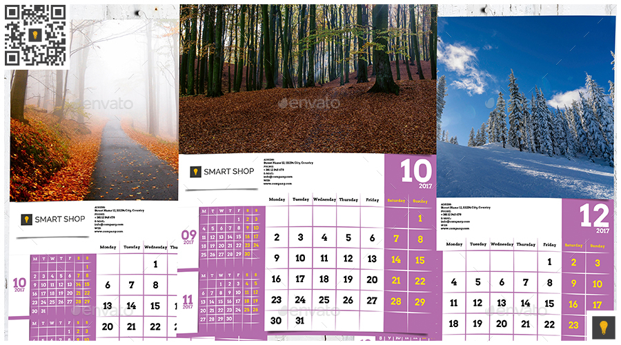 2017 Wall Calendar By Shockymocky | Graphicriver