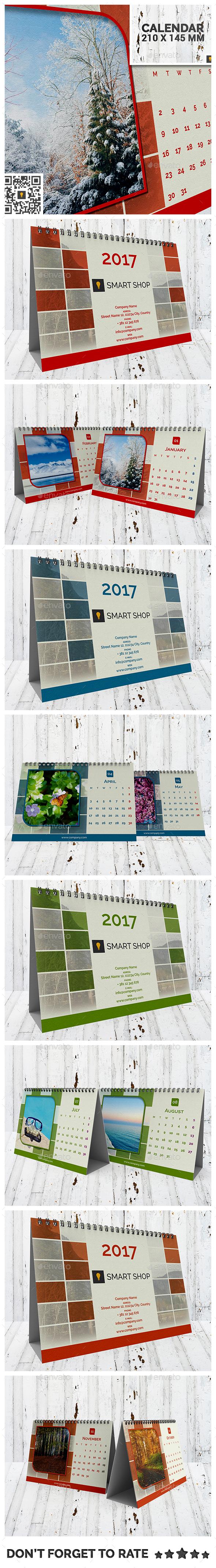 2017 Desktop Calendar - Calendars Stationery