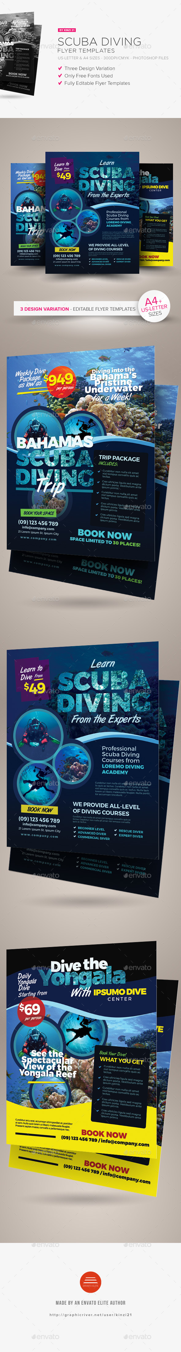 Scuba Diving Flyer Templates - Sports Events